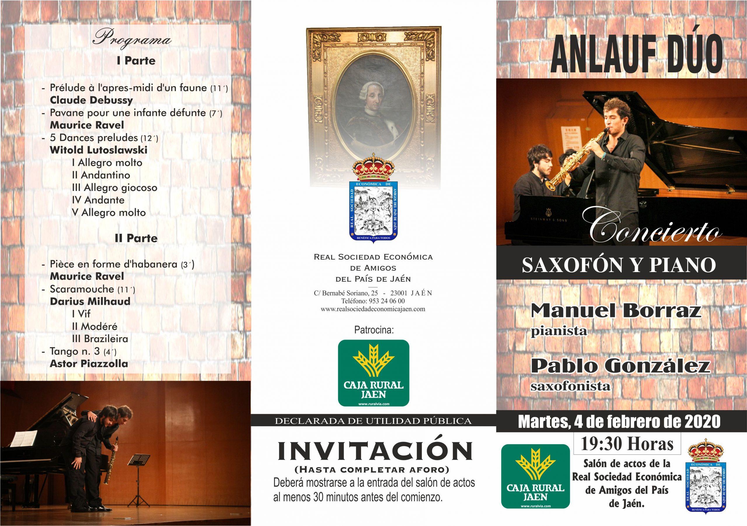 Concierto Anlauf Dúo en Jaén